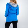 Donna - Cappuccio zip lunga felpa non garzata