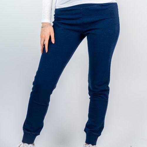 Donna - Pantalone lungo felpa non garzata con polsi