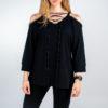 Donna - t-shirt m/c jersey con cordino