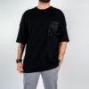 Uomo - T-shirt m/c over jersey con taschino in rete
