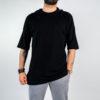 Uomo - T-shirt over con cappuccio jersey e rete