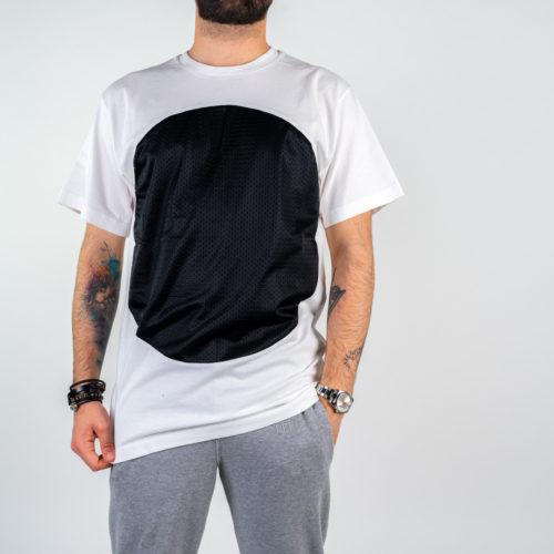 Uomo - T-shirt over m/c jersey e rete